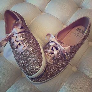 Keds x Kate Spade Rose Gold sneakers